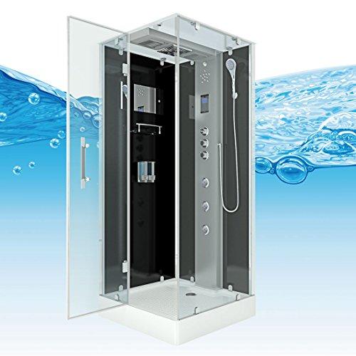 AcquaVapore DTP6038-2303L Dusche Dampfdusche Duschtempel Duschkabine -Th. 100×100, EasyClean Versiegelung der Scheiben:2K Scheiben Versiegelung +99.-EUR - 9