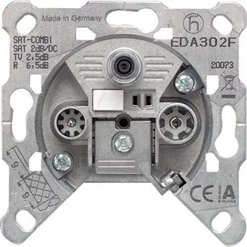 Jung EDA 302 F Einzeldose EDA302F 3Loch, Grau