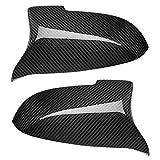 HUANGYOUJIA Hardware Marino Cubierta de Espejo Lateral de Estilo de Fibra de Carbono M Ajuste de Rendimiento para BMW F10 / F11 / F18 5 Series Cubierta Espejo de Vista Trasera (Color : Black)