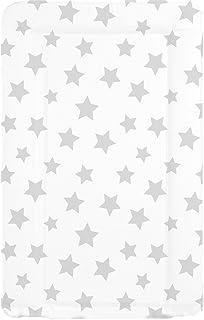 comprar comparacion Cambiador de bebé, impermeable, unisex, con bordes elevados, blanco con estrellas grises