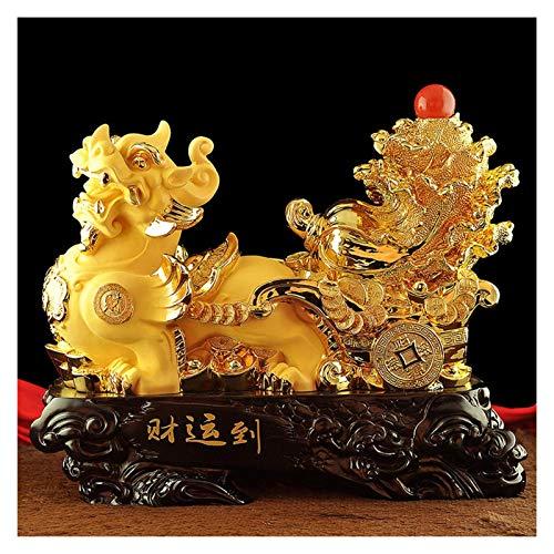 Feng shui estatuas Resina de Colección Figuras de Ministerio del Interior de Lucky decoración Sala de decoración del estreno de una apertura Regalo Decoración de atraer la riqueza y buena suerte Decor