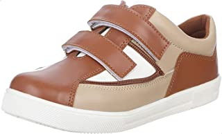 Bellino Velcro Strap Two-Tone Faux Leather Fashion Sneakers for Boys