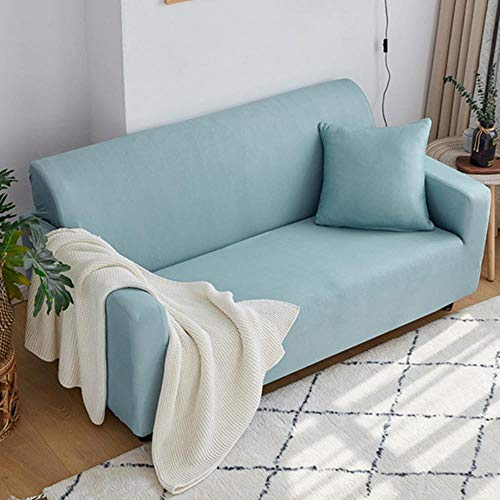Sofabezüge für Wohnzimmer1/2/3/4 Sitz All-Inclusive Universal Elastic Couch Protector Cover Sessel Sofabezug, 01110-Aqua blau, 4 Sitzplätze 235-300