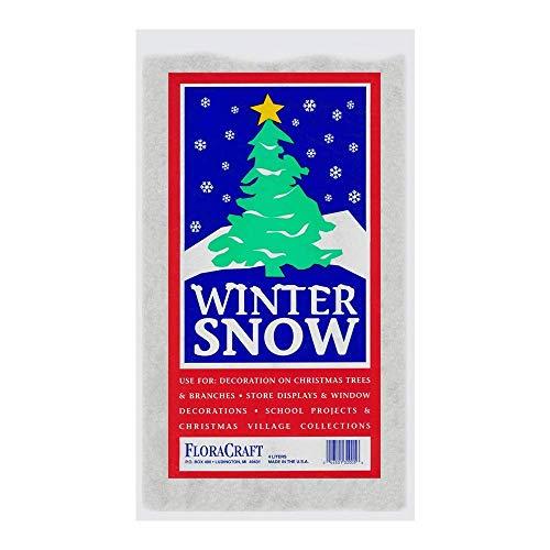 (4 Litre) - Floracraft Cs60, Plastic Snow, 4-litres Printed Bag, Upc Coded , New, Free Shipp