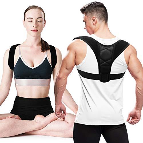 VILIMO Correctore Postura per Uomo Donna, Fascia Posturale Spalle e Schiena con Traspirante Regolabile per Alleviare il Dolore
