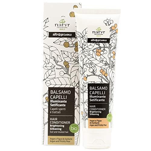 Natyr Bio Pflege Conditioner mit Arganöl und Feigenkaktus 200 ml - Glanzpflege für feines und trockenes Haar - ohne Parabene, Silikone und SLS
