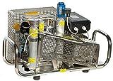 HTD - Compresor de aire (100 l/min, motor eléctrico de 300 bar, 220 V, carcasa de acero inoxidable)