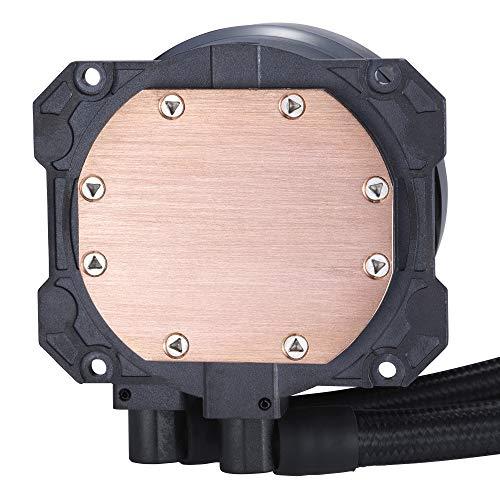 Cooler Master MasterLiquid ML280 Mirror ARGB CPU Flüssigkeitskühler - AIO-Wasserkühlsystempumpe der 3. Generation, 2 x 140 mm SickleFlow V2-Lüfter, verbesserter 280 mm-Kühler, AMD & Intel kompatibel