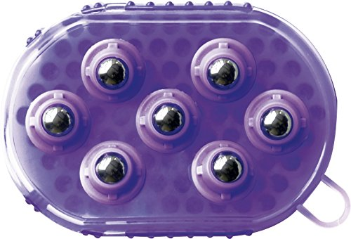 EKKIA 2 in 1 Putzhandschuh Striegel und Massage violett