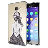 NALIA Funda Carcasa Compatible con Samsung Galaxy A5 2016, Motivo Design Movil Protectora Ultra-Fina Silicona Cubierta, Goma Gel Estuche Bumper Ligera Cover Phone Case, Designs:Bird Princess