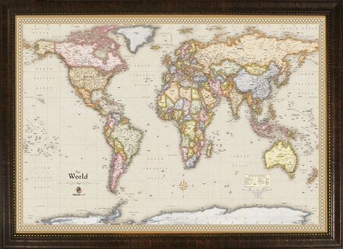 """Homemagnetics MM3624WLD Magnetic Travel Map of The World, 39 by 27"""""""