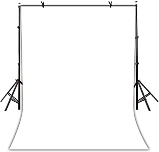 5x7ft Solid Color Backdrop Wrinkle Resistant Polyester Fabric Photography Background White Screen for Photo Video Studio Y...