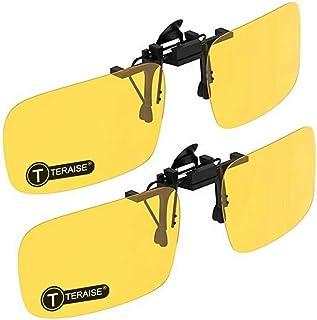 114fef103c TERAISE 2-Pack Clip de visión nocturna con gafas de sol polarizadas  Hombres/Mujeres