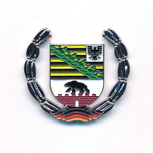 hegibaer Sachsen-Anhalt Wappen Deutschland Magdeburg Flagge Edel Pin Anstecker 0927