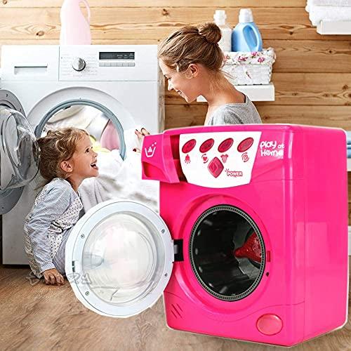loco by crazy shoes Lavatrice Giocattolo Rosa con luci Suoni e Movimento del cestello CM. 25 X 19 Lava ASCIUGA Gioco per Bambine