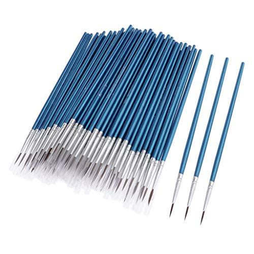 chiwanji 100x Multifonctionnel Pinceaux en Détail à Ongles Stylo Liner Ongles Acrylique Huile - L