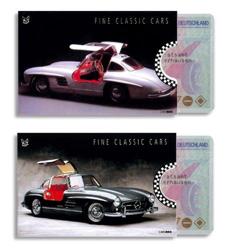 cardbox Mercedes Set /// Motive: Mercedes 300 SL /// 2er Set /// Hüllen für Ausweise und Karten Aller Art im Scheckkartenformat