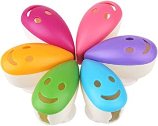 VADOO 6Pcs Toothbrush Head Cover Cap Suction Cup Toothbrush Case Portable Toothbrush Protector Holder (Random Color)