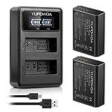 LP-E10 YUPOWDA Paquet de Batterie de Remplacement (2-Pack) et Double Chargeur...