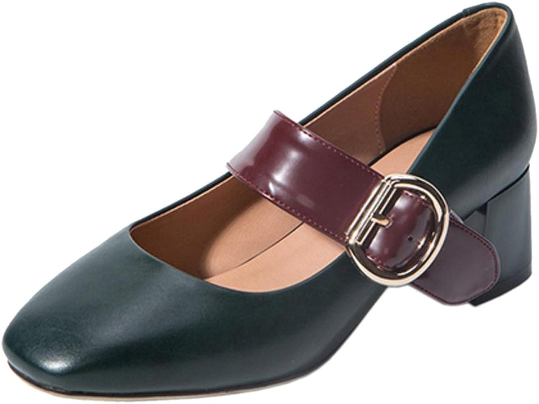 RizaBina Women Classic Block Heel Pumps