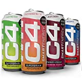 C4 Smart Energy 4 Flavor Variety Pack 16oz (Pack of 20) | Sugar Free Energy Drink for Men & Women | Performance & Focus with Zero Sugar, Carbs or Calories