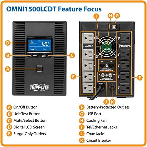 Build My PC, PC Builder, Tripp Lite OMNI1500LCDT