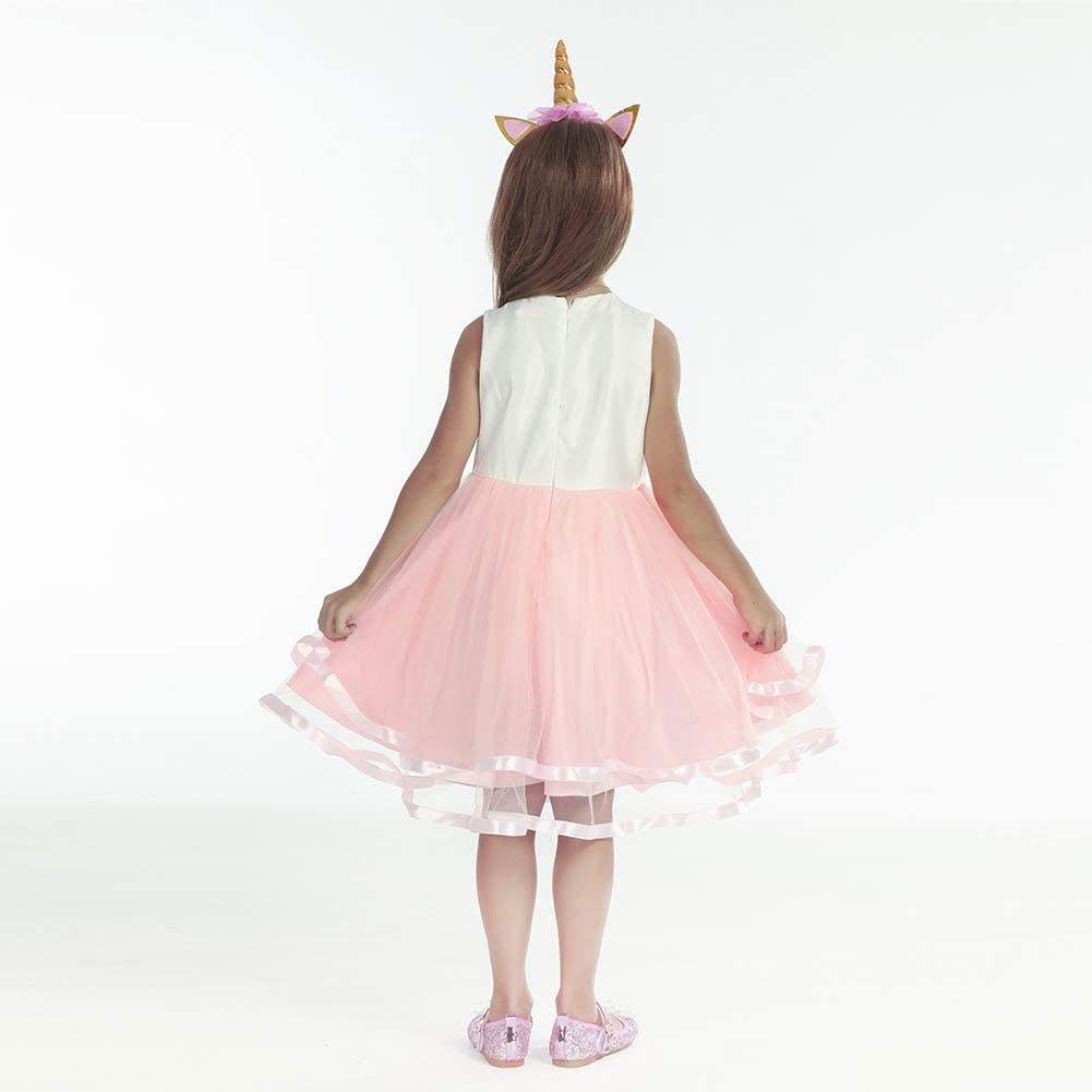 Age 2-10 Years GOWIN Unicorn Dress Unicorn Costume Girls Princess Fancy Dress with Headband for Kids /& Toddlers Birthday//Cosplay//Hallween Party