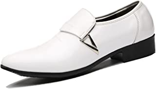dddc3fae508dd ZZHAP Men s Pointed-Toe Tuxedo Dress Shoes Casual Slip-on Loafer