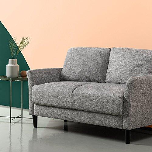 Zinus Jackie Sofá, Tapizado de estilo clásico, Gris claro de 135.9x79x87.9 cm