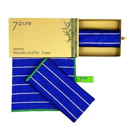 Panni per lucidare con fibre di bambù | 3 pezzi | 40 x 50 cm | per asciugare e lucidare con la forza della natura | per una brillantezza perfetta senza sforzo | panni vetri, panni per asciugare