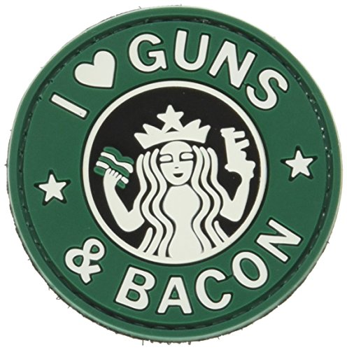 5ive Star Gear Guns and Bacon Morale Patch, Multi-Color, One Size