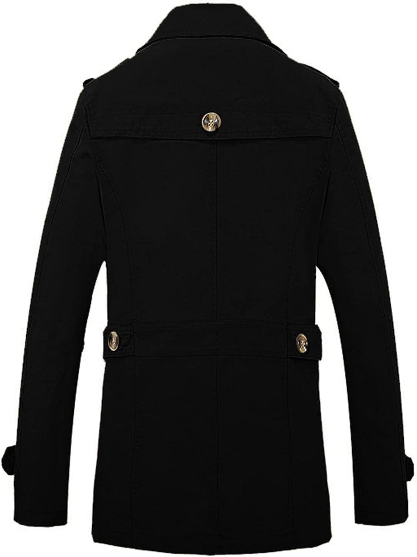 Jacekt for Men Long Sleeve Lightweight Windbreaker Jacket Solid Color Outwear Coat Turn-Down Collar Top