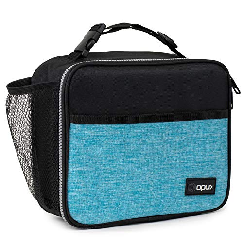 OPUX Lunch Box for Kids Boys Girls  Insulated Soft Lunch Bag for Men Women  Leakproof Reusable Durable Thermal Lunch Pail for School Work Office  Fit 6 Cans Turquoise