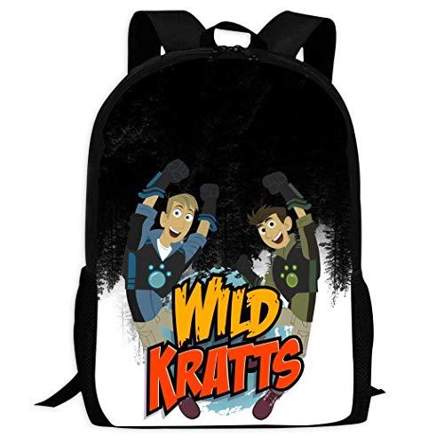 XCNGG Erwachsenen-Vollformat-Druckrucksack Lässiger Rucksack Rucksack Schultasche Wild Kra-tts School Backpacks 3D Printed Bookbags Daypack Shoulder Lightweight Bag Laptop, Fashion Large Capacity Casu