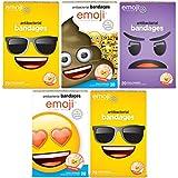 Emoji Kids Bandages with Emoji Shaped Bandages, 100 ct | Adhesive Antibacterial Bandages for Minor Cuts, Scrapes, Burns. Easter Basket Stuffers for Kids & Toddlers