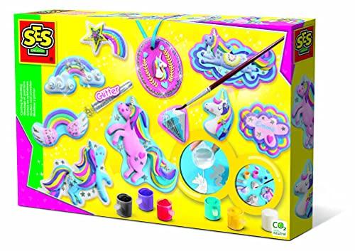 Ses Hobby Bambine Modellare e Pitturare Unicorni, Multicolore, 01359