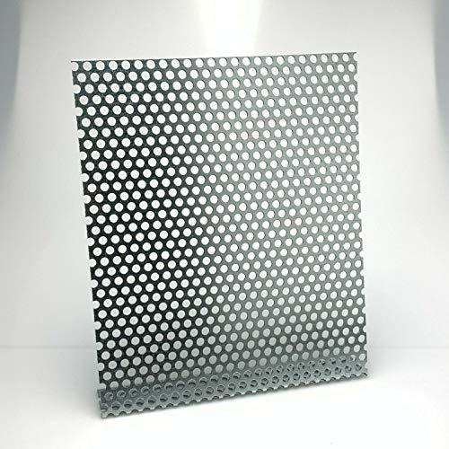 Lochblech Stahl Verzinkt RV 8-12 1,5 mm stark Individueller Zuschnitt nach Maß (1000 mm x 250 mm)