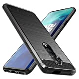 Osophter for Oneplus 7T Pro Case Shock-Absorption Flexible TPU Rubber Full-Body Protective Phone Cover for One Plus 7T Pro 5G McLaren(Black)