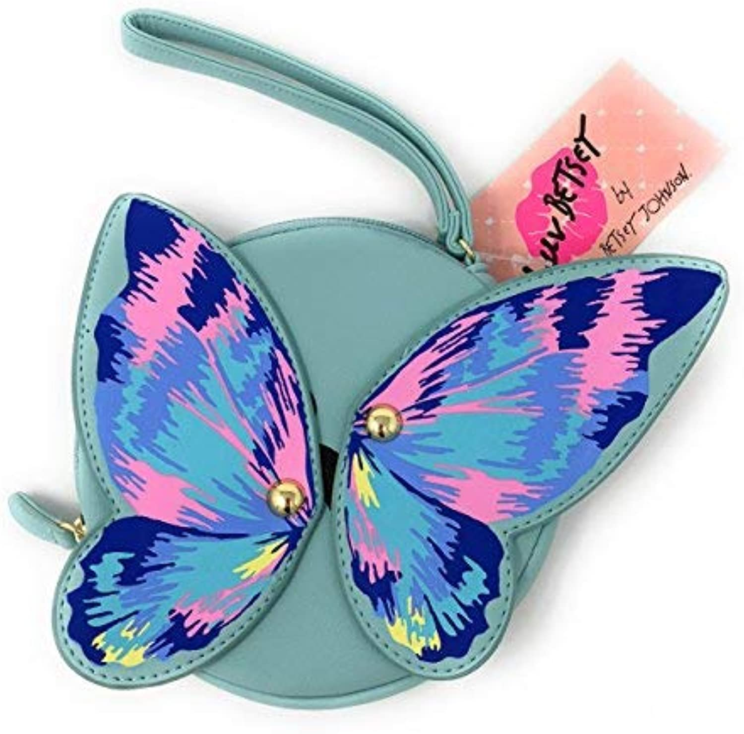 Betsey Johnson Luv Betsey Aqua Butterfly Coin Purse