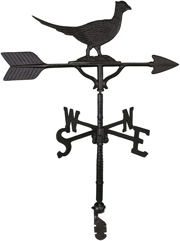 Montague Shipping included Metal Products 32-Inch Weathervane unisex Satin Black Phe with