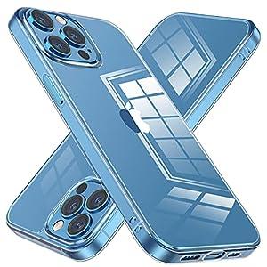 NIMASO ケース iPhone 13 Pro 用 カバー iPhone13 Pro 対応 ケース 背面 強化ガラス バンパー TPU クリア カバー 6.1インチ用 NSC21H313