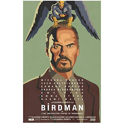 NRRTBWDHL Birdman - Michael Keaton USA Held 2015 Hot Movie-Wandaufkleber Poster Licht Leinwand Dekoration Wanddekoration-50x70cm No Frame