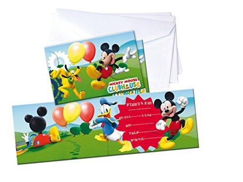 Mickey Mouse - 6 Invitaciones con sobre (Verbetena 014000601)