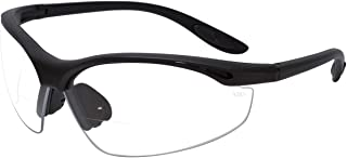 Calabria 91348 Bi-Focal Safety Glasses UV Protection in Clear +1.00