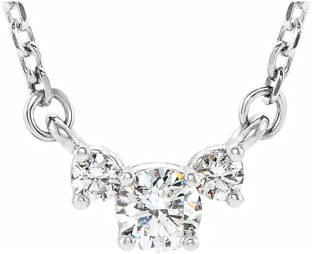 Max 61% OFF 1-3 Carat Classic Past Present Future Pendant Ne Diamond trust 3 Stone