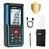 Laser Measure Tilswall Laser Distance Meter 40m Digital Tape Measurement Electronic Tool Measuring Device with Upgraded Electronic Angle Sensor, Larger Backlit Display 131ft Battery Included