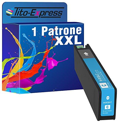 PlatinumSeries 1x cartuccia d'inchiostro compatibile XXL per HP 913A | adatto per HP PageWide Pro 352dw MFP377dw 452dn 452dw 452dwt 477dw 577dw 577z 552dw 477dwt 477dn | ciano