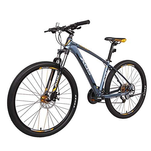 Qj Las Bicicletas de montaña de 27 velocidades, 27.5 Pulgadas Bicicletas Anti-Slip, Marco de Aluminio para Bicicleta de montaña con suspensión Delantera de Doble Freno de Disco