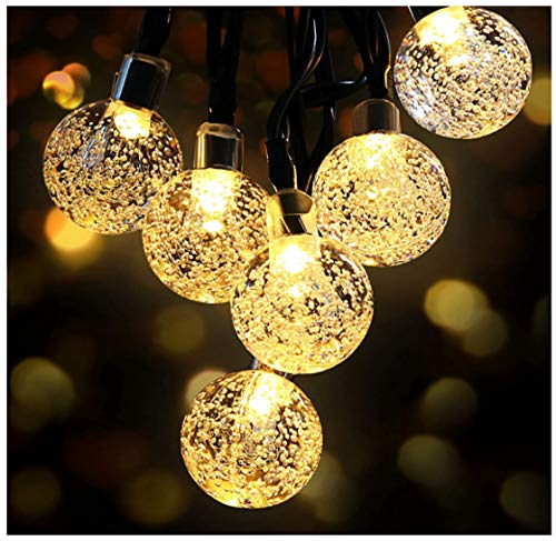Solar String Lights, Outdoor Garden Lights Solar, Waterproof 50 LEDs Crystal Ball Decorative Light for Tree, Patio, Yard, Wedding, Party