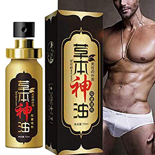 Kohyum Herbal Strong Man Viagra Sex Massage Olio ritardante l'eiaculazione Sesso a Lungo per uomini-10ml